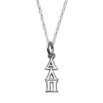 LogoArt Sterling Silver Alpha Delta Pi Sorority Pendant Necklace