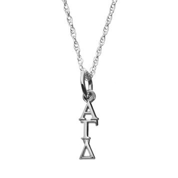 LogoArt Sterling Silver Alpha Gamma Delta Sorority Pendant Necklace