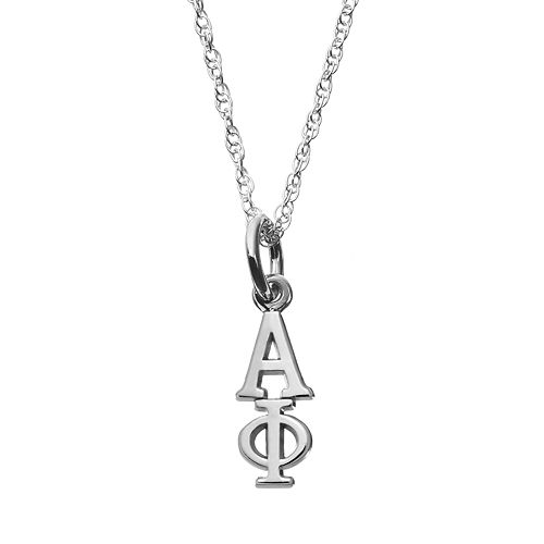 LogoArt Sterling Silver Alpha Phi Sorority Pendant Necklace