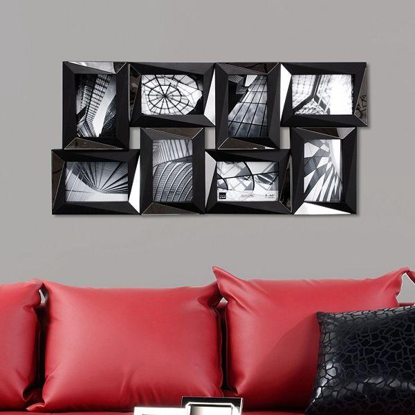 Kiera Grace Mira Mirrored 8 Opening 4 X 6 Collage Frame