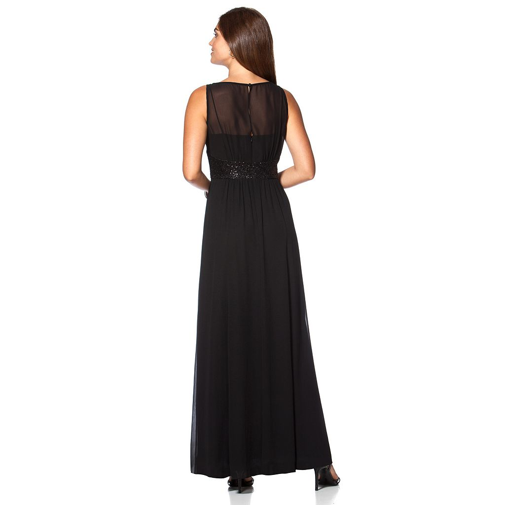 Women's Chaps Georgette Empire Evening Gown