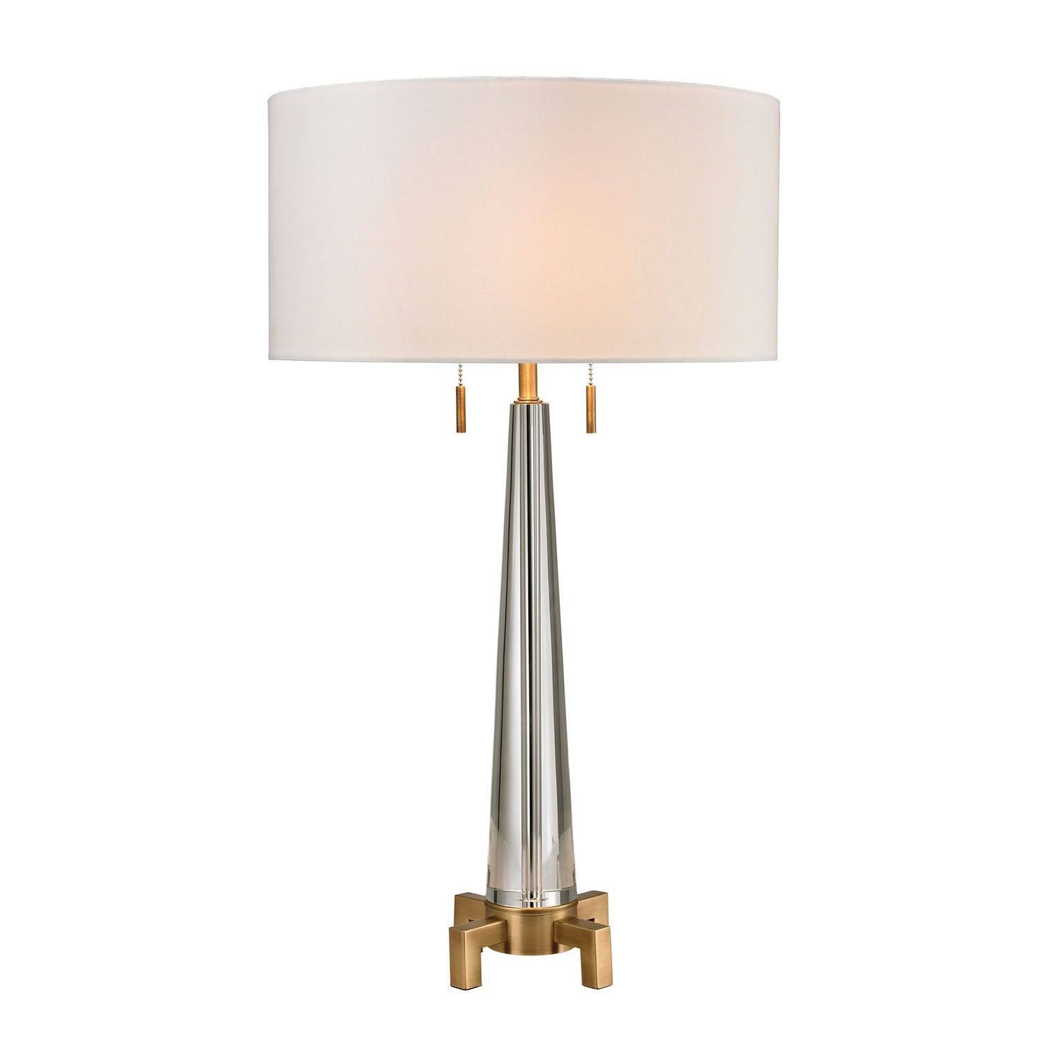 Merveilleux Dimond Solid Optic Table Lamp