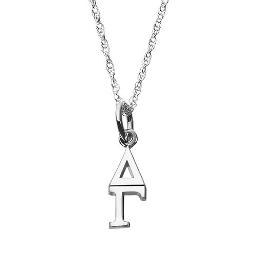 LogoArt Sterling Silver Delta Gamma Sorority Pendant Necklace