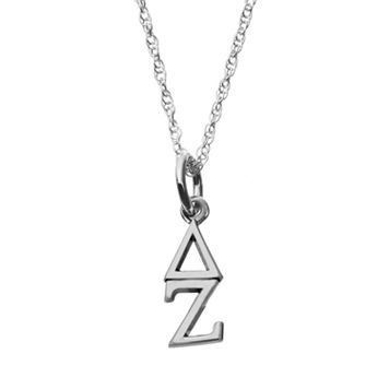 LogoArt Sterling Silver Delta Zeta Sorority Pendant Necklace