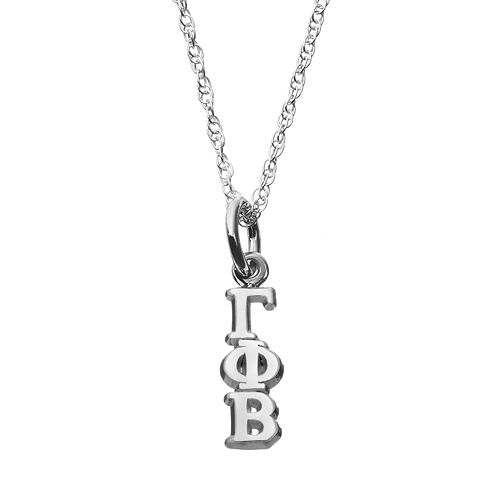 LogoArt Gamma Sterling Silver Phi Beta Sorority Pendant Necklace