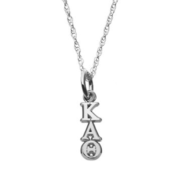 LogoArt Sterling Silver Kappa Alpha Theta Sorority Pendant Necklace
