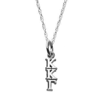 LogoArt Sterling Silver Kappa Kappa Gamma Sorority Pendant Necklace