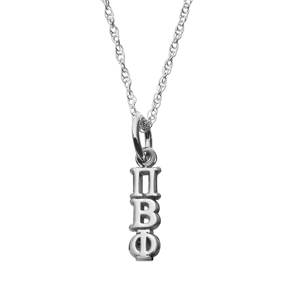 LogoArt Sterling Silver Pi Beta Phi Sorority Pendant Necklace