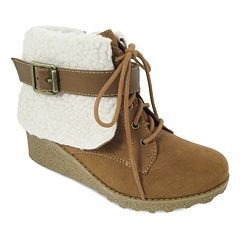 Mia Heidi Girls' Wedge Ankle Booties