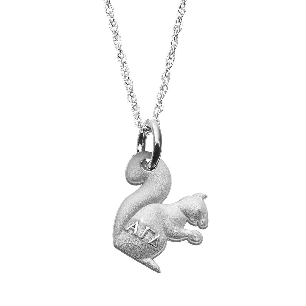 LogoArt Sterling Silver Alpha Gamma Delta Sorority Squirrel Pendant Necklace