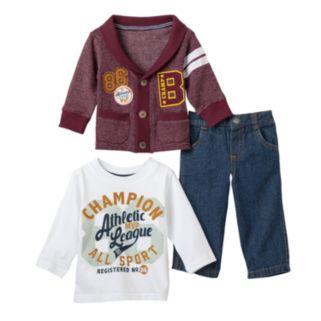 """Boyzwear """"86 Champ B"""" Cardigan Set - Toddler Boy"""
