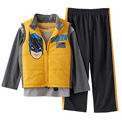 DC Comics Batman: The Dark Knight Puffer Vest Set - Toddler Boy