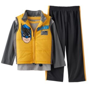 DC Comics Batman: The Dark Knight Puffer Vest Set - Toddler Boy