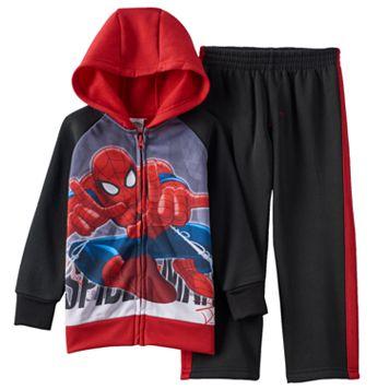 Spider-Man Full-Zip Hoodie & Pants Set - Toddler Boy