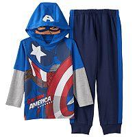 Marvel Avengers Captain America Hooded Tee & Jogger Pants Set - Toddler Boy