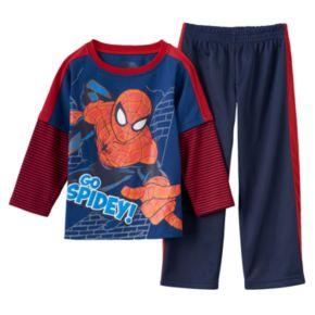 "Spider-Man ""Go Spidey!"" Mock-Layer Tee & Pants Set - Toddler Boy"