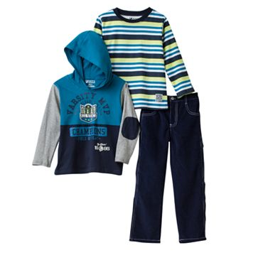Boyzwear Toddler Boy Hooded Tee & Corduroy Pants Set