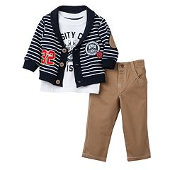 Boyzwear '32 Varsity Crew Division' Cardigan Set - Toddler Boy
