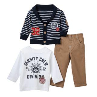 "Boyzwear ""32 Varsity Crew Division"" Cardigan Set - Toddler Boy"