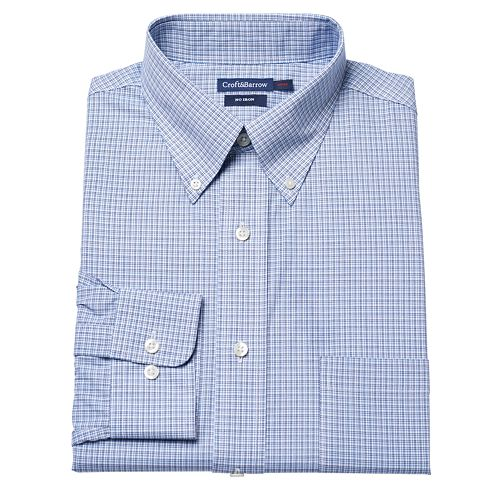 Croft & Barrow® Fitted Micro-Checked No-Iron Dress Shirt – Men