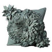 Mina Victory 20'' x 20'' Blooms Felt Throw Pillow