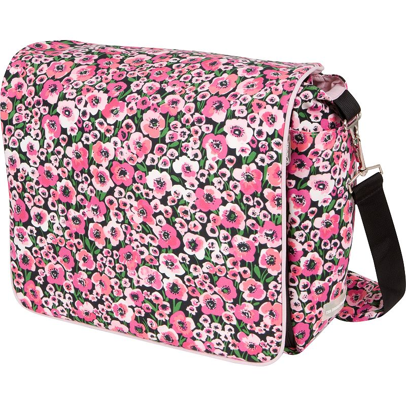 The Bumble Collection Jessica Messenger Diaper Bag - Peony Paradise