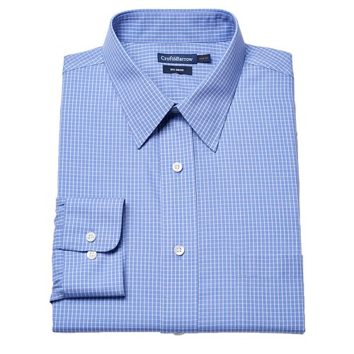 Croft & Barrow® Fitted Grid No-Iron Dress Shirt – Men