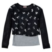 SO® Knit Tank Top & Crop Top Set - Girls 7-16 & Girls' Plus