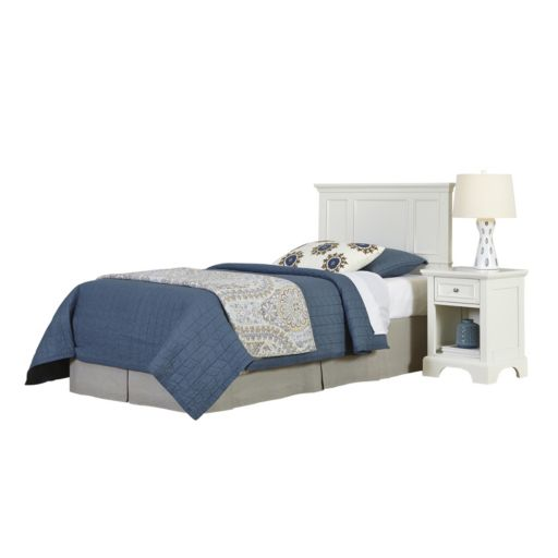 Home Styles 2-piece Naples Twin Headboard and Night Stand Set