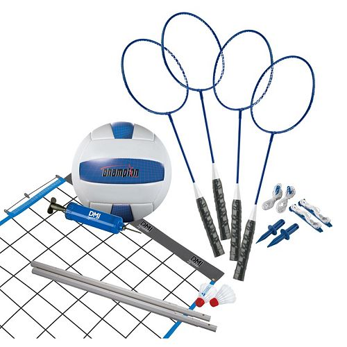 Verus Sports Advanced Volleyball & Badminton Set
