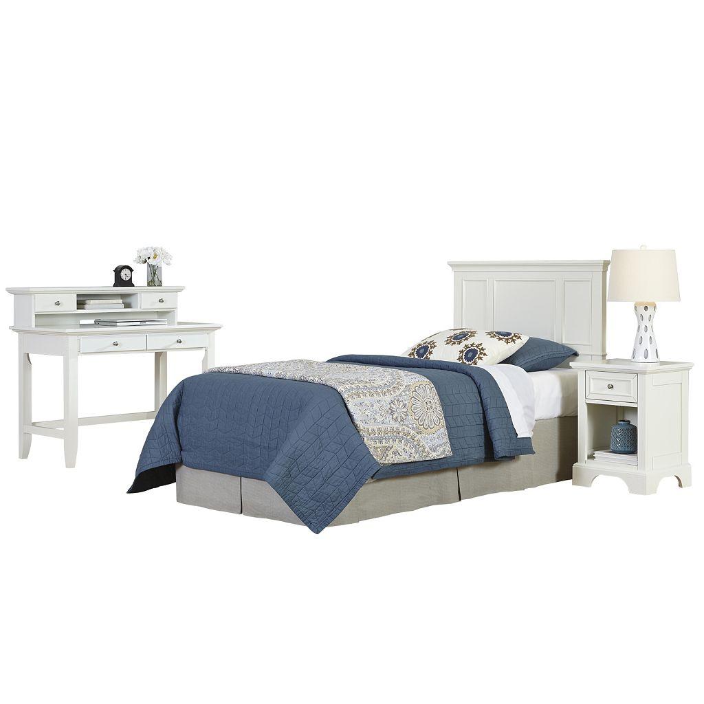 Home Styles Naples Headboard, Desk & Nightstand 3-piece Set