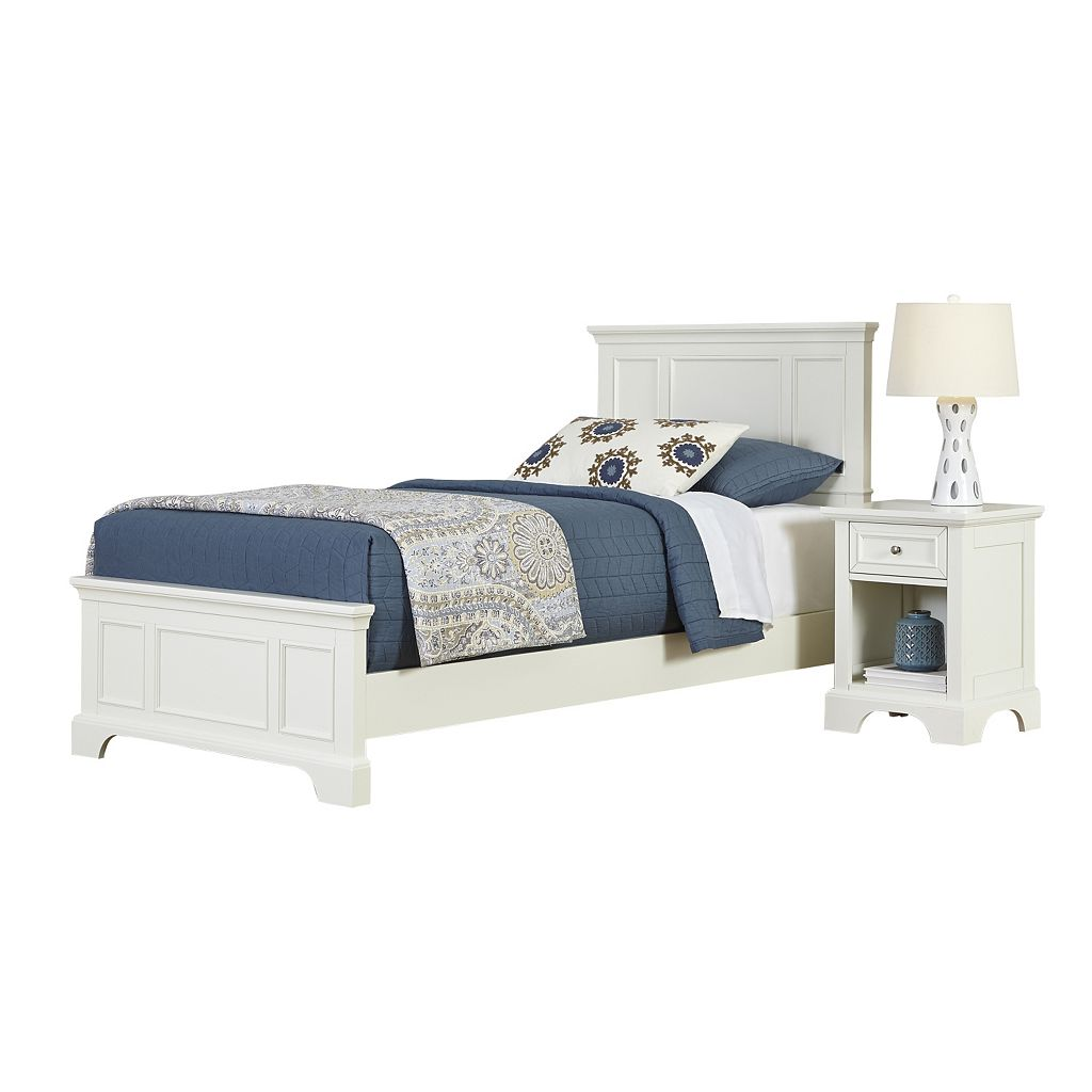Home Styles 2-piece Naples Twin Bed and Night Stand Set