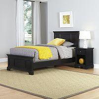 Home Styles 2 pc Naples Twin Bed and Night Stand Set