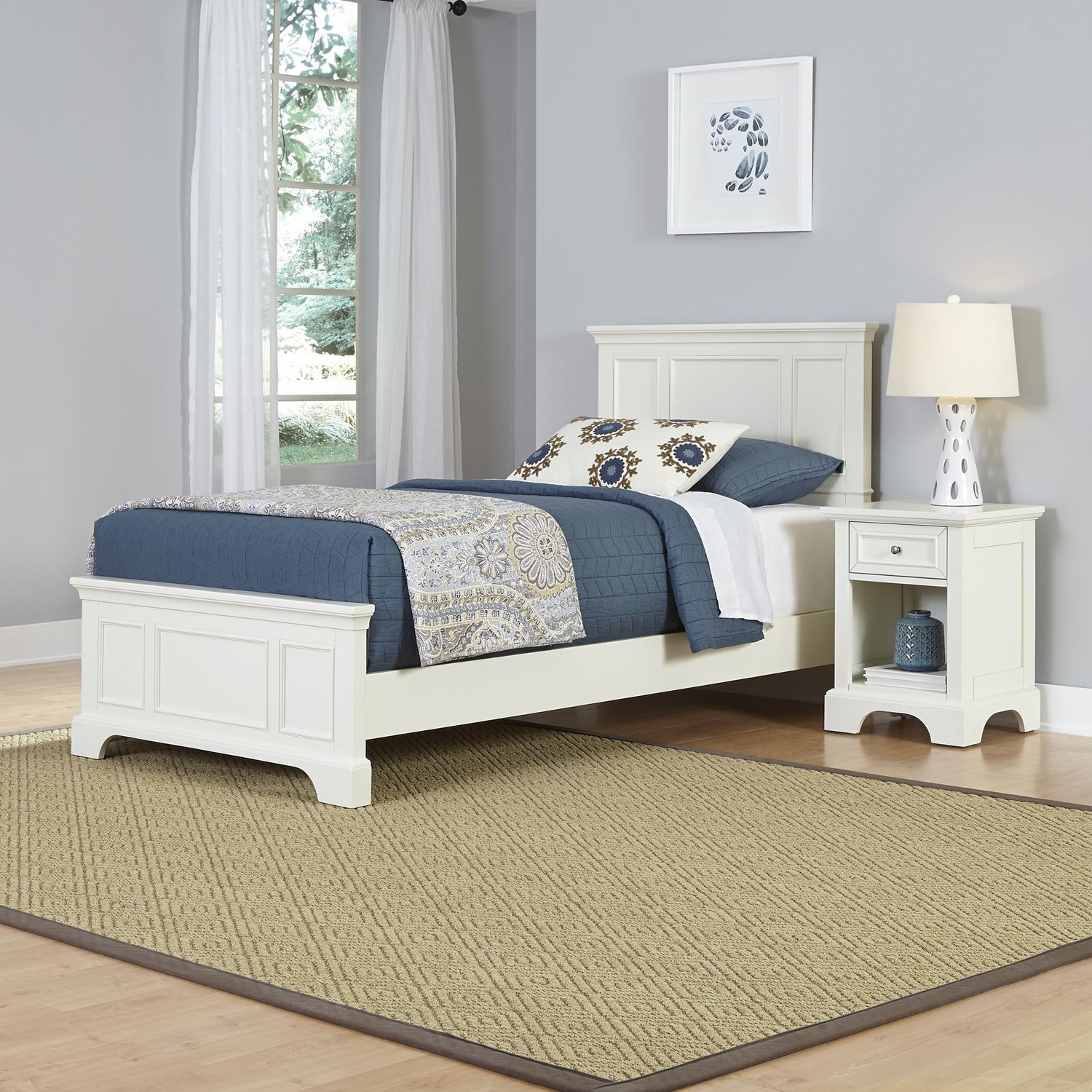 home styles 2piece naples twin bed and night stand set