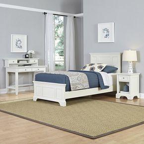 Home Styles Naples Bed, Desk & Nightstand 3-piece Set
