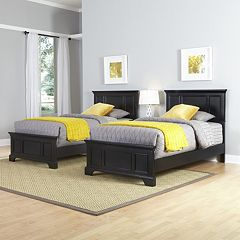 Home Styles 3 pc Naples Twin Beds and Night Stand Set
