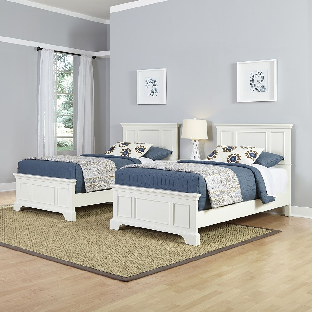 Home Styles 3-piece Naples Twin Beds and Night Stand Set