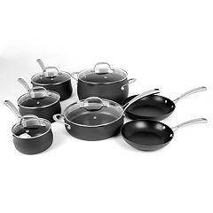 Oneida 12-pc. Hard-Anodized Aluminum Cookware Set