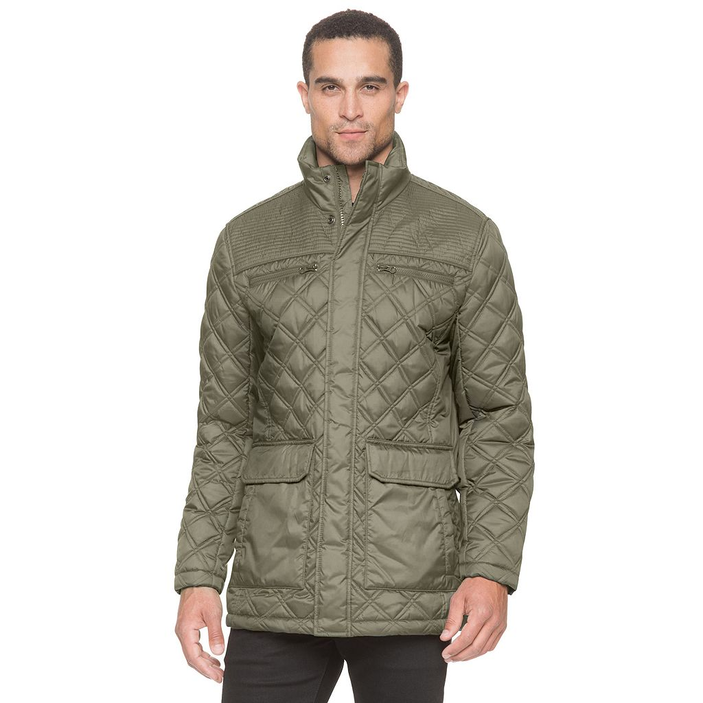 Men's AM Studio by Andrew Marc Quilted Midlength Jacket