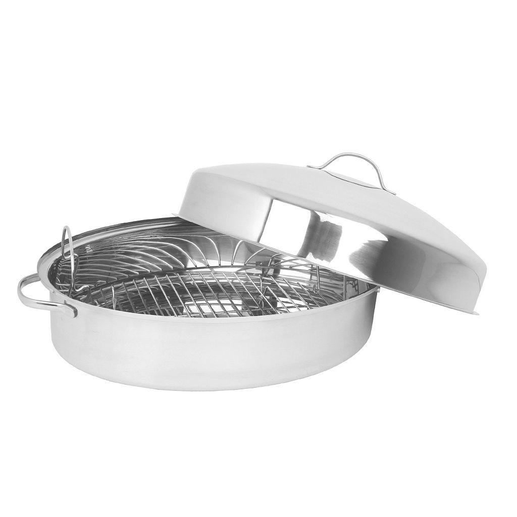 Oneida Stainless Steel Oval Roaster