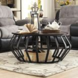 HomeVance Wescott Caged Coffee Table
