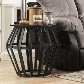 HomeVance Wescott Caged End Table