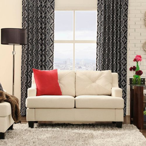 HomeVance Gaven Cream Loveseat