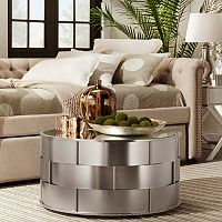 HomeVance Victoria Mirrored Top Coffee Table