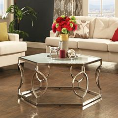 HomeVance Kissena Contemporary Coffee Table