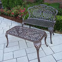 Mississippi Loveseat Bench & Coffee Table Set