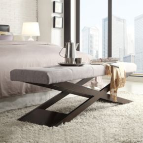 HomeVance Loraine Tufted Bench
