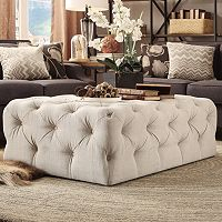HomeVance Vanderbilt Tufted Cocktail Ottoman