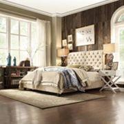 HomeVance Vanderbilt Queen Button Tufted Bed Frame
