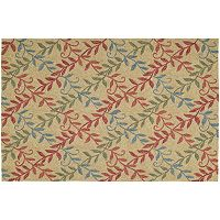 Kaleen Home & Porch Factors Walk Leaf Indoor Outdoor Rug